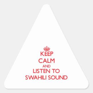 Guarde la calma y escuche el SONIDO del SUAJILI Colcomanias Triangulo