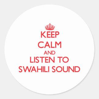 Guarde la calma y escuche el SONIDO del SUAJILI Etiqueta Redonda