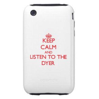 Guarde la calma y escuche el tintóreo iPhone 3 tough cárcasas