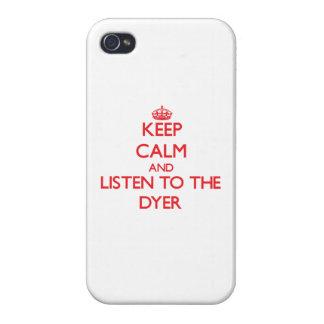 Guarde la calma y escuche el tintóreo iPhone 4 coberturas