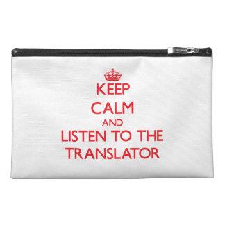 Guarde la calma y escuche el traductor