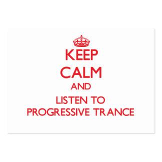 Guarde la calma y escuche el TRANCE PROGRESIVO Tarjetas De Visita