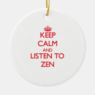 Guarde la calma y escuche el ZEN Ornamentos Para Reyes Magos
