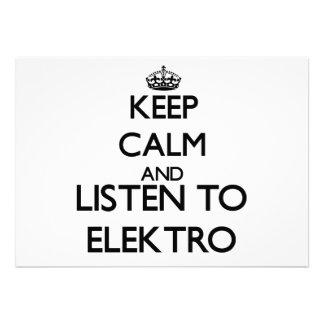Guarde la calma y escuche ELEKTRO Comunicados