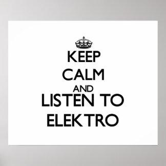 Guarde la calma y escuche ELEKTRO Impresiones
