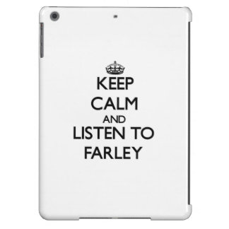 Guarde la calma y escuche Farley Funda Para iPad Air