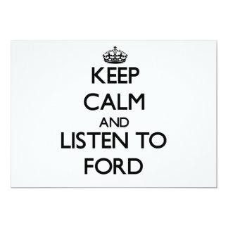 Guarde la calma y escuche Ford Comunicados Personalizados