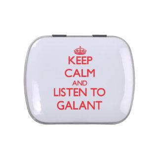 Guarde la calma y escuche GALANT