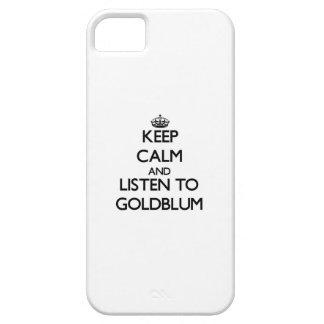 Guarde la calma y escuche Goldblum iPhone 5 Case-Mate Protector