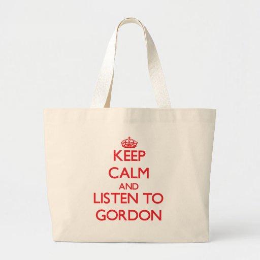 Guarde la calma y escuche Gordon Bolsa