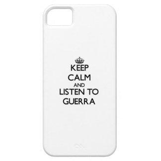 Guarde la calma y escuche Guerra iPhone 5 Cobertura