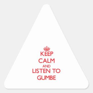 Guarde la calma y escuche GUMBE