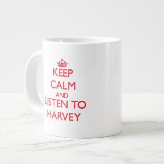 Guarde la calma y escuche Harvey Tazas Jumbo