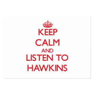 Guarde la calma y escuche Hawkins Plantillas De Tarjetas Personales