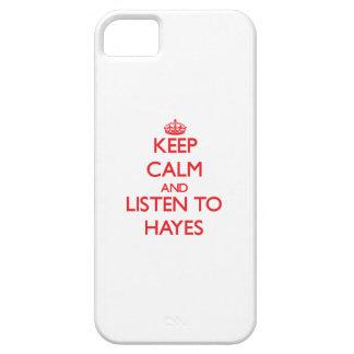 Guarde la calma y escuche Hayes iPhone 5 Case-Mate Cárcasa