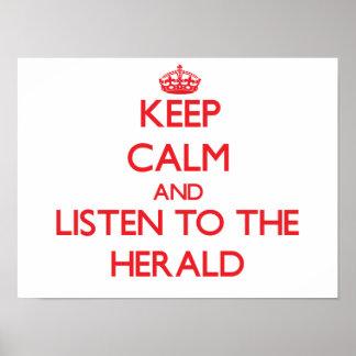 Guarde la calma y escuche Herald Impresiones