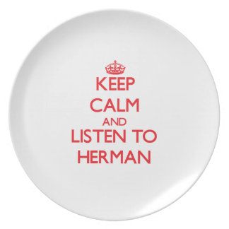 Guarde la calma y escuche Herman