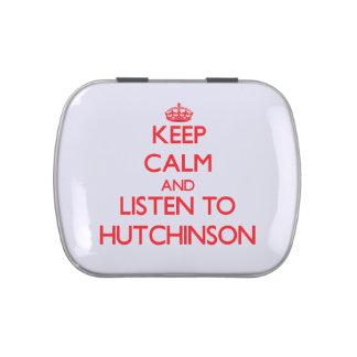 Guarde la calma y escuche Hutchinson Jarrones De Caramelos