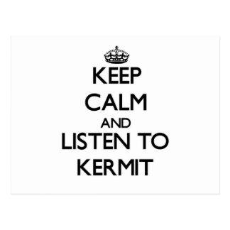Guarde la calma y escuche Kermit Postal