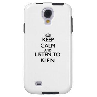 Guarde la calma y escuche Klein