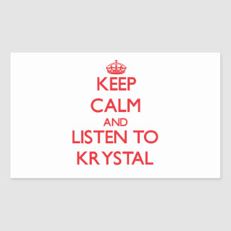 Guarde la calma y escuche Krystal Rectangular Altavoces