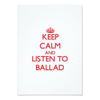 Guarde la calma y escuche la BALADA Comunicados