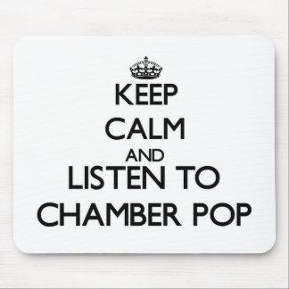 Guarde la calma y escuche la CÁMARA POP Alfombrillas De Raton