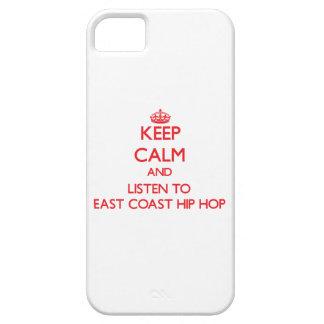 Guarde la calma y escuche la COSTA ESTE HIP HOP iPhone 5 Funda
