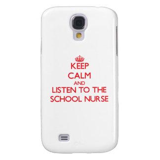 Guarde la calma y escuche la enfermera de la escue