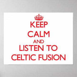Guarde la calma y escuche la FUSIÓN CÉLTICA Impresiones