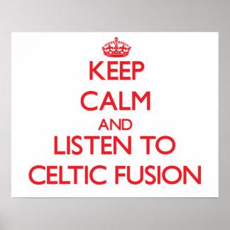Guarde la calma y escuche la FUSIÓN CÉLTICA Poster