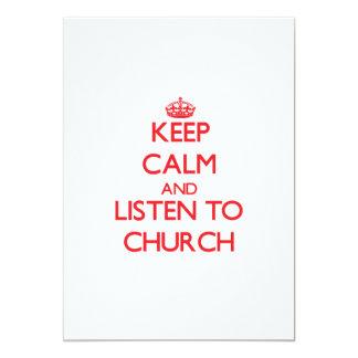 Guarde la calma y escuche la iglesia comunicados personalizados