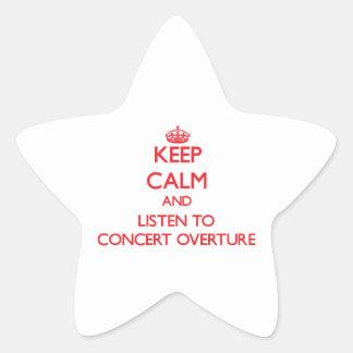 Guarde la calma y escuche la INSINUACIÓN del Calcomania Cuadrada Personalizada