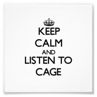 Guarde la calma y escuche la jaula fotografias