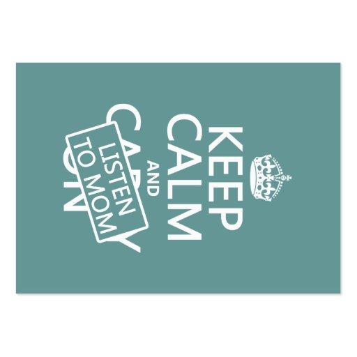 Guarde la calma y escuche la mamá (en cualquier co tarjetas de negocios