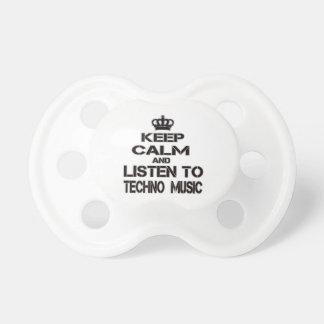 Guarde la calma y escuche la música de Techno Chupetes Para Bebés