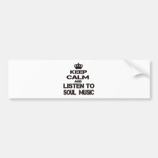 Guarde la calma y escuche la música del alma pegatina para coche