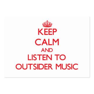 Guarde la calma y escuche la MÚSICA del FORASTERO Tarjetas De Visita Grandes