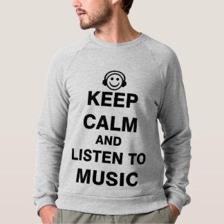 Guarde la calma y escuche la música remera