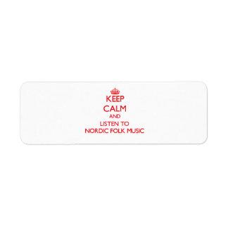 Guarde la calma y escuche la MÚSICA TRADICIONAL Etiquetas De Remite