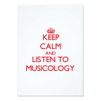 Guarde la calma y escuche la MUSICOLOGÍA Invitacion Personalizada