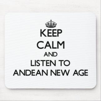Guarde la calma y escuche la NUEVA EDAD ANDINA Tapete De Ratón