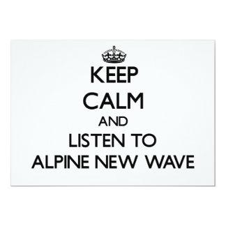 Guarde la calma y escuche la NUEVA OLA ALPINA Invitacion Personalizada