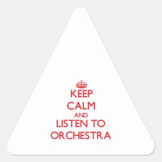 Guarde la calma y escuche la ORQUESTA