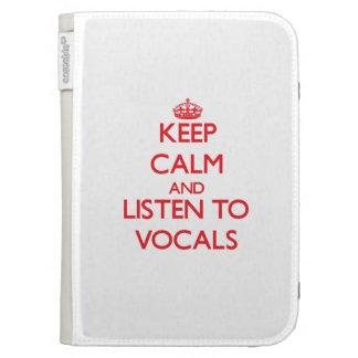 Guarde la calma y escuche la PIEZA VOCAL