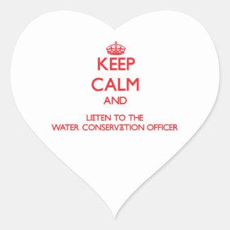 Guarde la calma y escuche la protección de agua ap pegatinas