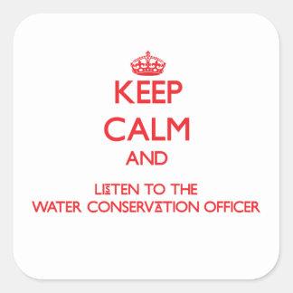 Guarde la calma y escuche la protección de agua ap etiquetas