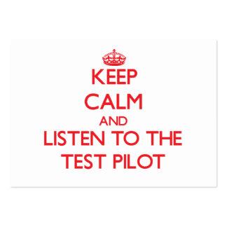 Guarde la calma y escuche la prueba tarjeta de visita