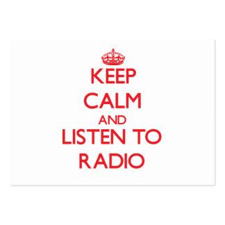 Guarde la calma y escuche la RADIO Tarjetas De Visita Grandes