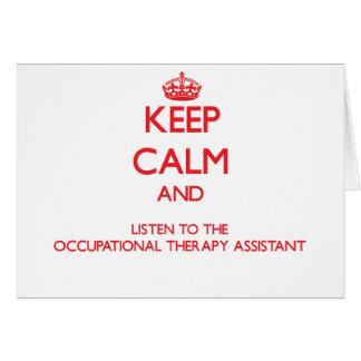 Guarde la calma y escuche la terapia profesional A Tarjeta De Felicitación